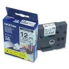 Brother TZE 121 (noir transparent 9mm) - ORIGINALE