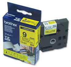 Brother TZE 621 (Noir Yellow 9mm) - ORIGINALE