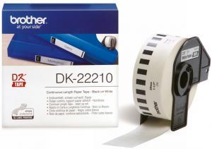 Brother DK-22210 (Noir/Blanc) - ORIGINALE